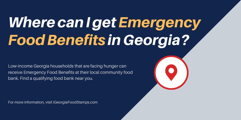 Where can I get Emergency Food Benefits in Georgia