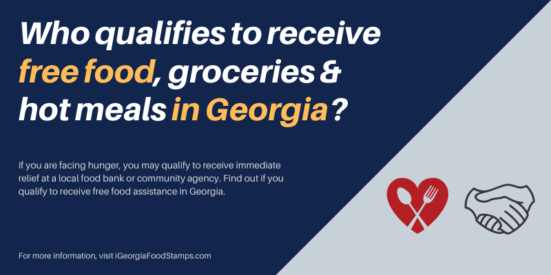 Who qualifies to receive free food, groceries and hot meals in Georgia