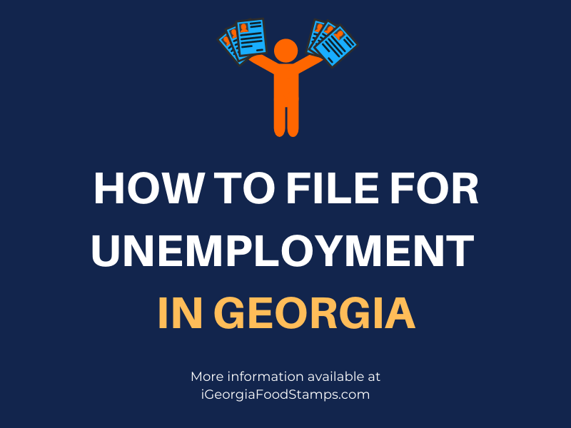 how to apply for unemployment benefits in georgia