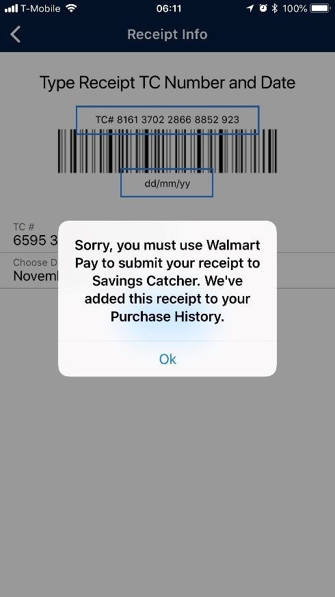 Walmart Savings Catcher screenshot