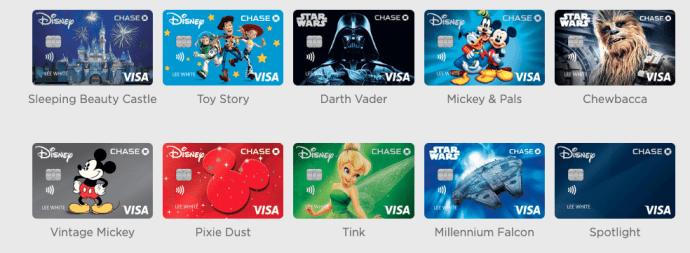 Chase Disney Rewards card options