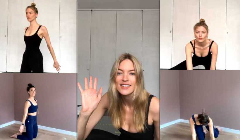 Martha Hunt's Instagram Live Stream from March 30th 2020.