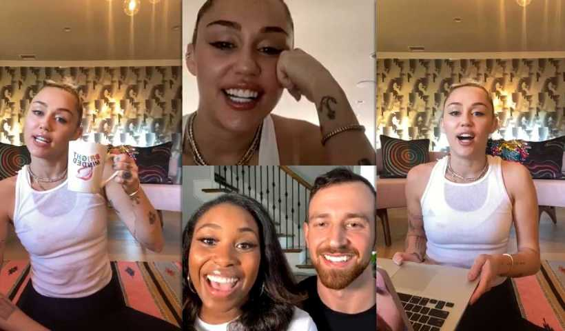Miley Cyrus #BrightMinded Instagram Live Stream from March 18th 2020.