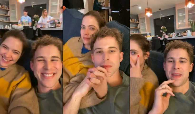 Tommy Dorfman's Instagram Live Stream with Ashley Benson from March 17th 2020.