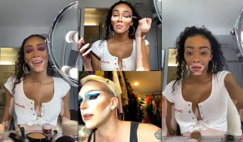Winnie Harlow's Instagram Live Stream from March 22th 2020.