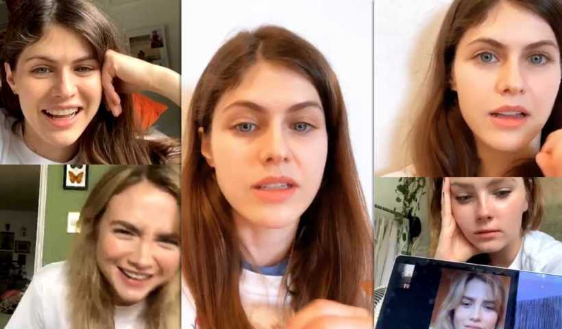 Alexandra Daddario's Instagram Live Stream from April 10th 2020.