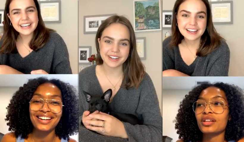 Bailee Madison's Instagram Live Stream with Yara Shahidi from April 11th 2020.