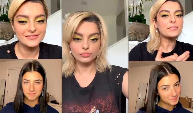 Bebe Rexha's Instagram Live Stream with Charli D'Amelio from April 13th 2020.