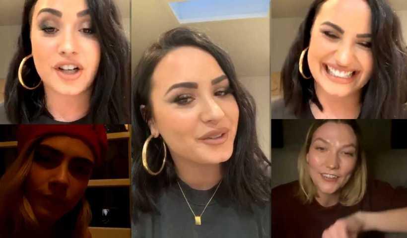 Demi Lovato's Instagram Live Stream with Cara Delevingne & Karlie Kloss from April 7th 2020.