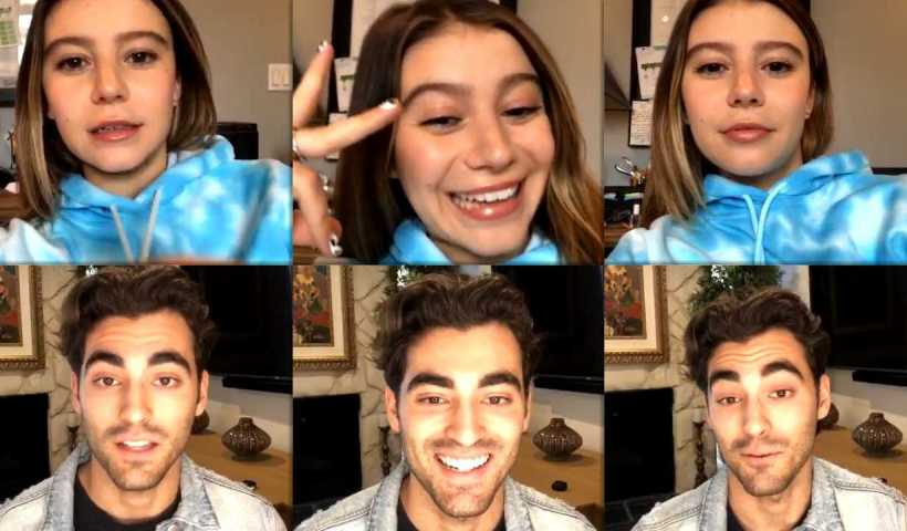 Genevieve Hannelius Instagram Live Stream with Blake Michael from April 9th 2020.