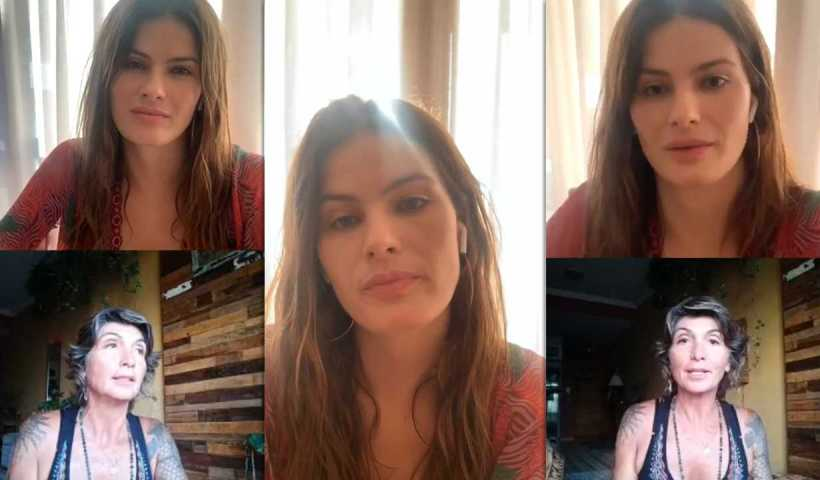 Isabeli Fontana's Instagram Live Stream from April 16th 2020.