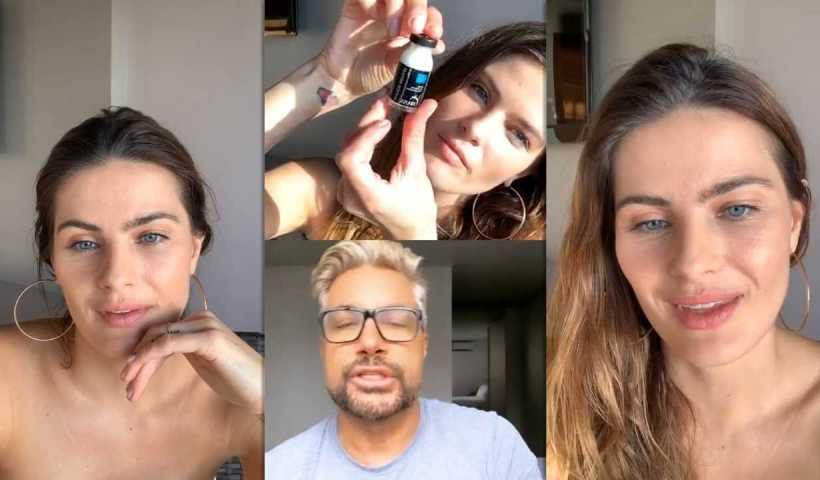 Isabeli Fontana's Instagram Live Stream from April 9th 2020.