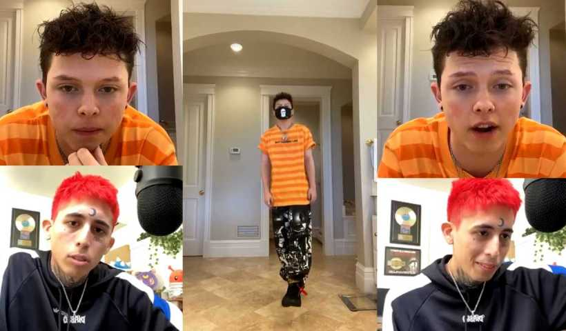 Jacob Sartorius Instagram Live Stream from April 21th 2020.