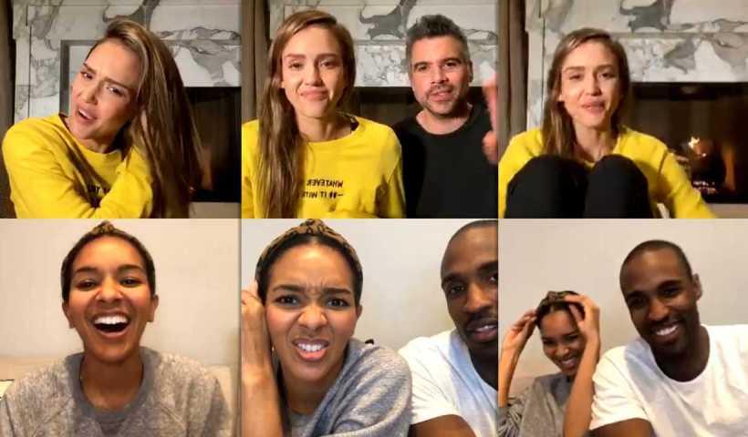 Jessica Alba's Instagram Live Stream from April 1st 2020.
