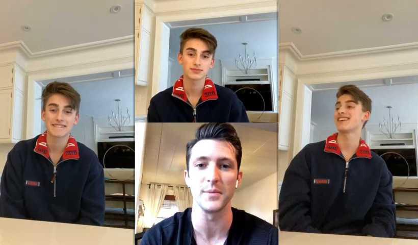 Johnny Orlando's Instagram Live Stream from March 30th 2020.