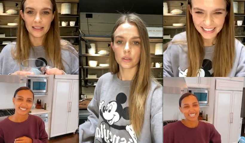 Josephine Skriver's Instagram Live Stream with Jasmine Tookes from April 13th 2020.