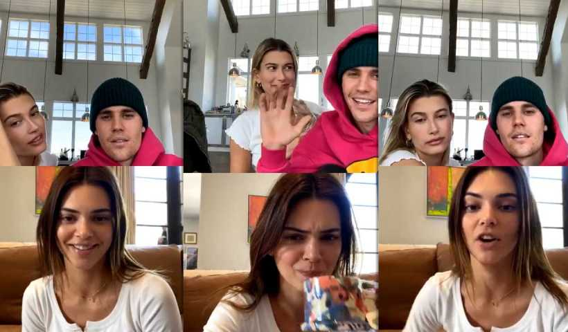 Justin Bieber's Instagram Live Stream with Kendall Jenner from April 5th 2020.