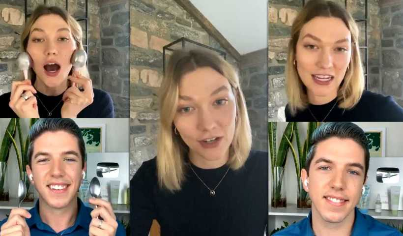Karlie Kloss Instagram Live Stream from April 13th 2020.
