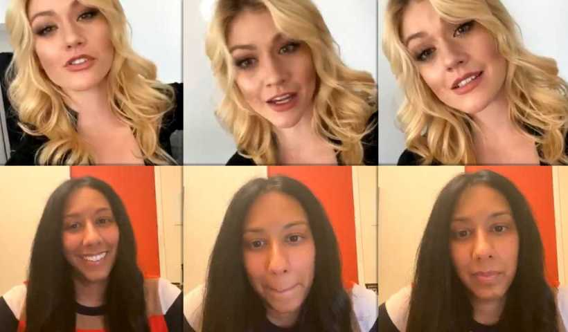 Katherine McNamara's Instagram Live Stream from April 10th 2020.