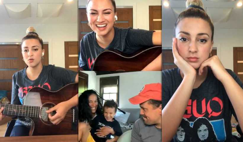 Tori Kelly's Instagram Live Stream from April 27th 2020.