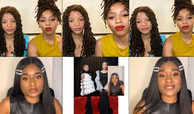 Chloe x Halle's Instagram Live Stream from May 13th 2020.