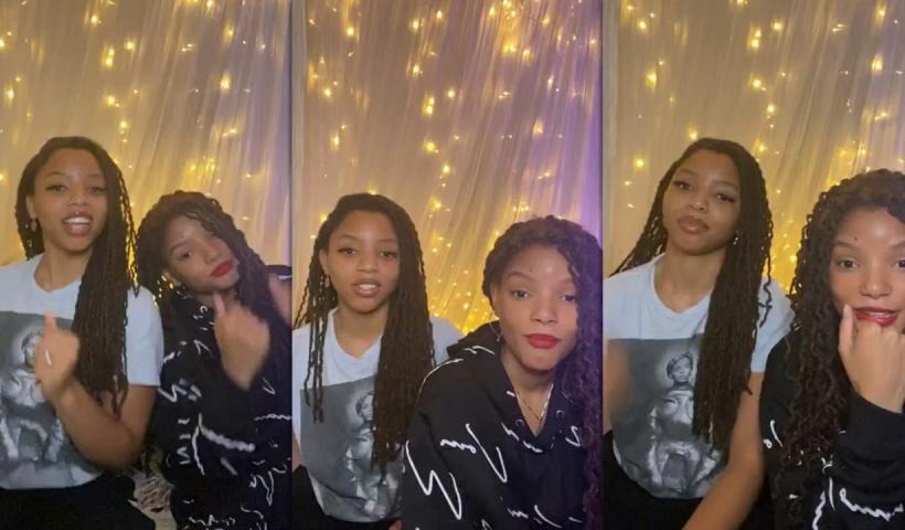 Chloe x Halle's Instagram Live Stream from May 14th 2020.