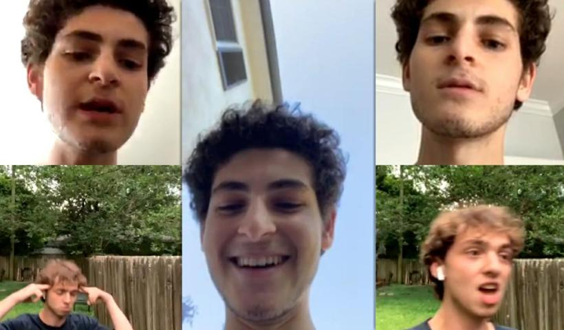 David Mazouz's Instagram Live Stream from May 27th 2020.