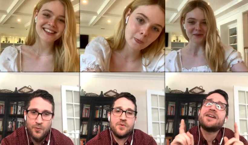 Elle Fanning's Instagram Live Stream from May 11th 2020.