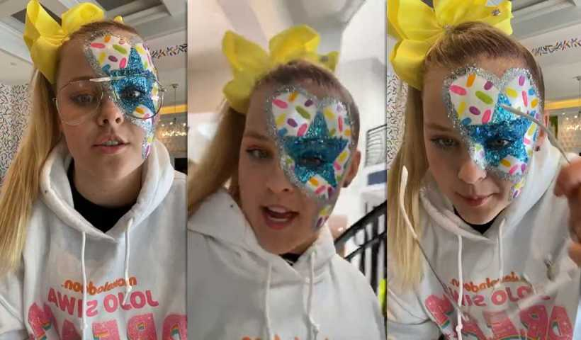 Jojo Siwa's Instagram Live Stream from May 2nd 2020.