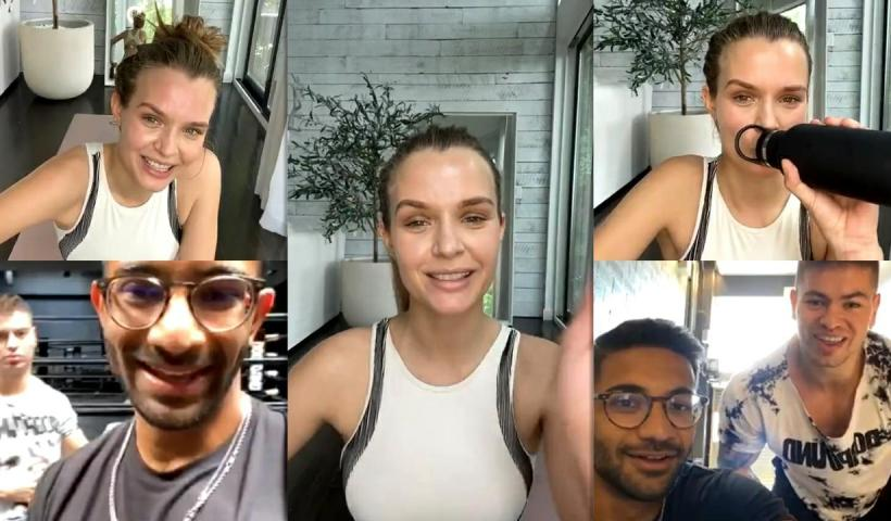 Josephine Skriver's Instagram Live Stream from May 20th 2020.