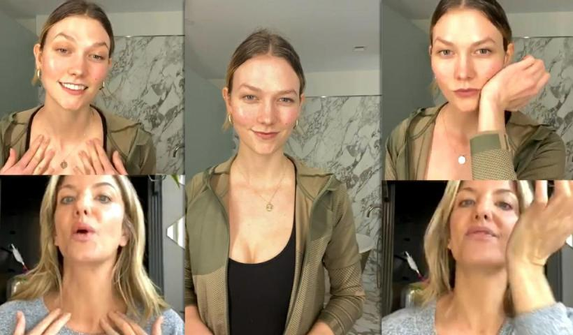 Karlie Kloss Instagram Live Stream from May 6th 2020.