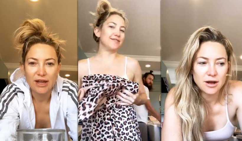 Kate Hudson's Instagram Live Stream from May 1st 2020.