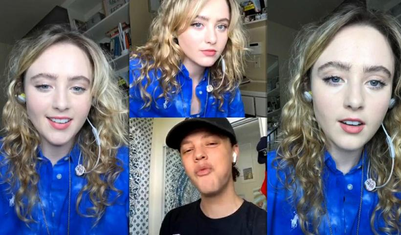 Kathryn Newton's Instagram Live Stream from May 8th 2020.