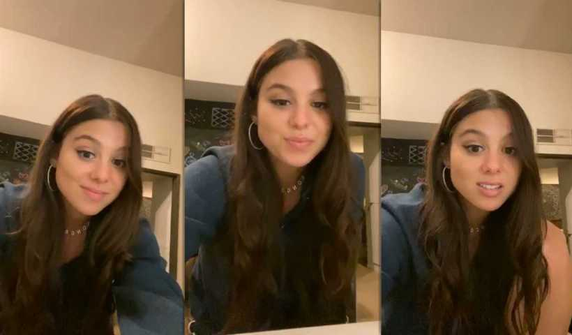 Kira Kosarin's Instagram Live Stream from May 4th 2020.
