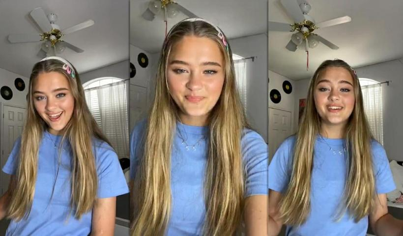 Lizzy Greene's Instagram Live Stream from May 10th 2020.