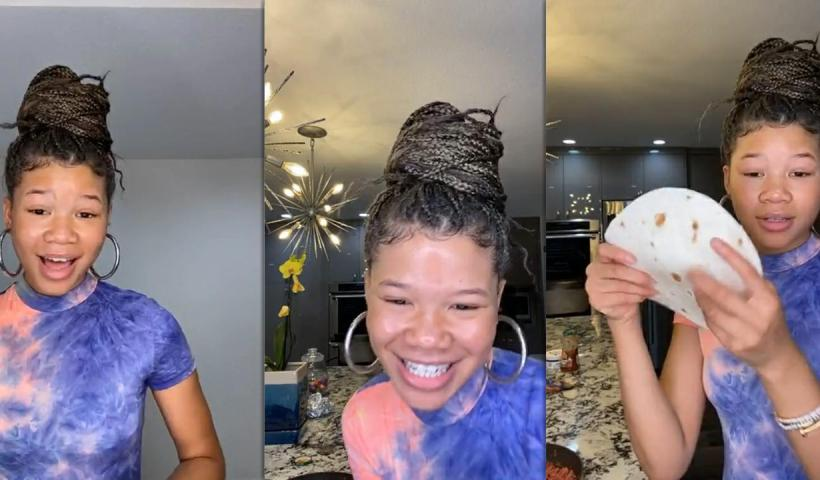 Storm Reid's Instagram Live Stream from May 15th 2020.