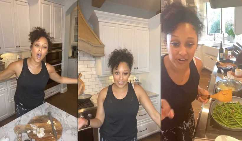Tamera Mowry's Instagram Live Stream from April 30th 2020.