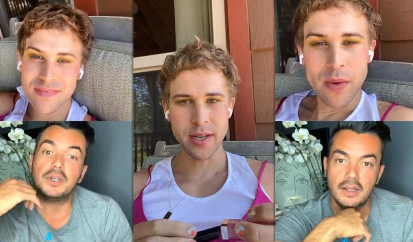 Tommy Dorfman's Instagram Live Stream from May 14th 2020.