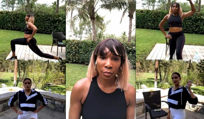 Venus Williams Instagram Live Stream with Olivia Culpo from May 18th 2020.