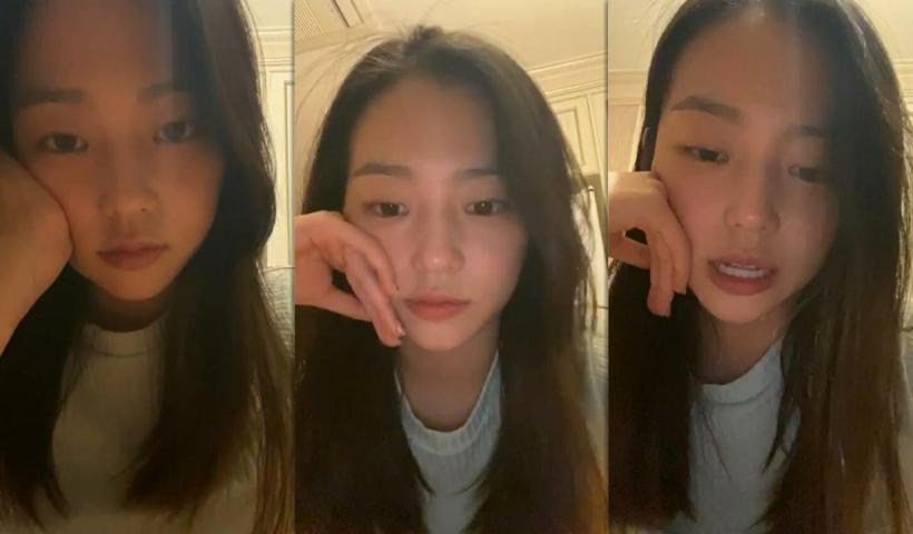 Yeeun's Instagram Live Stream from May 13th 2020.