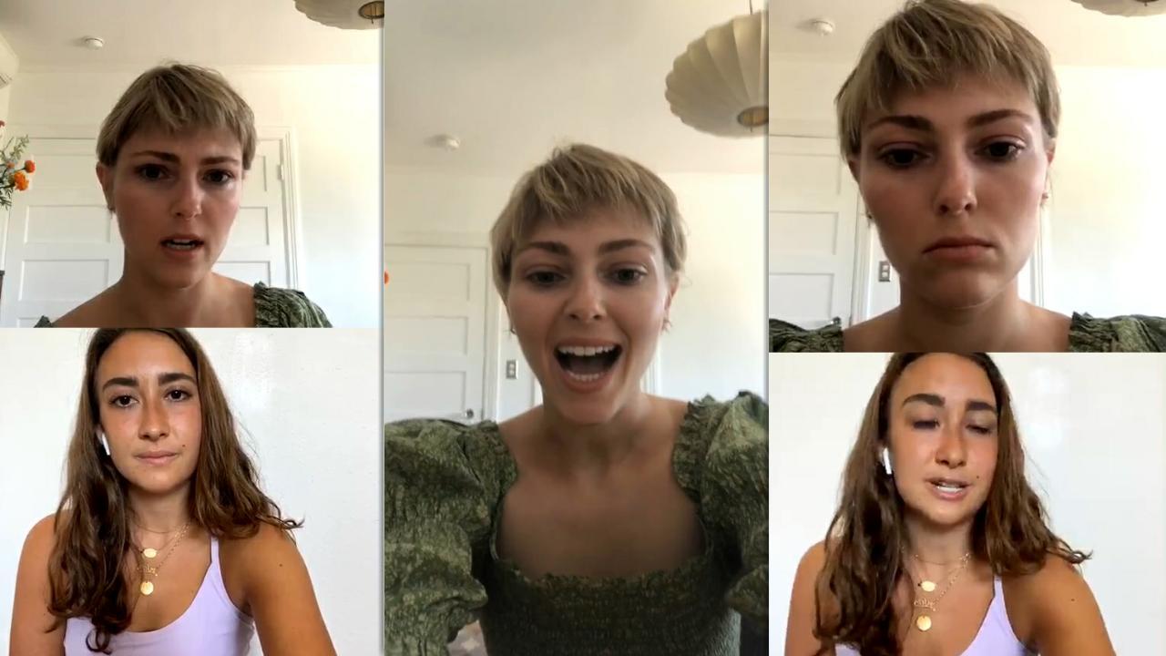 AnnaSophia Robb | Instagram Live Stream | 26 July 2020