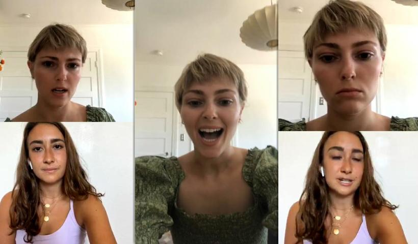 AnnaSophia Robb's Instagram Live Stream from July 26th 2020.