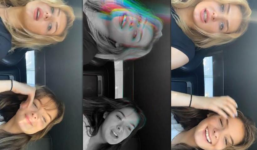 Brighton Sharbino's Instagram Live Stream with her sister Saxon Sharbino from July 23th 2020.