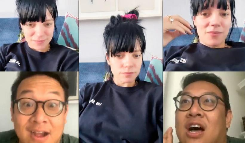 Lily Allen's Instagram Live Stream from July 22th 2020.
