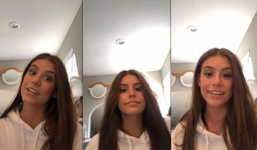 Madisyn Shipman's Instagram Live Stream from July 13th 2020.
