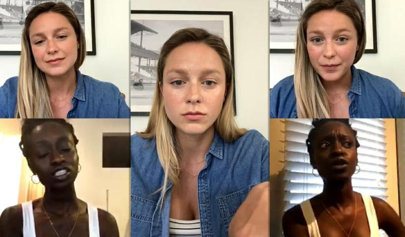 Melissa Benoist's Instagram Live Stream from July 7th 2020.
