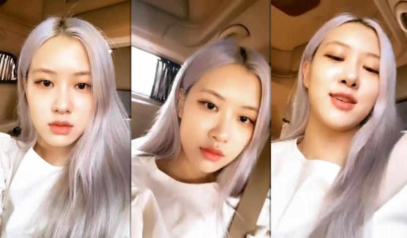 Rosé (BLACKPINK)'s Instagram Live Stream from July 8th 2020.
