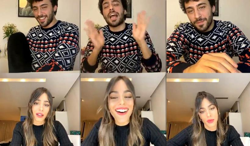 """Martina """"TINI"""" Stoessel's Instagram Live Stream with Lizardo Ponce from July 17th 2020."""