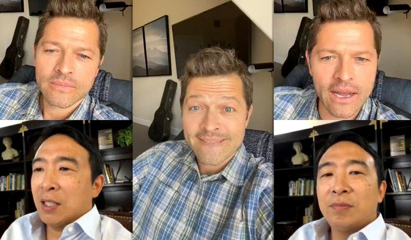 Misha Collins' Instagram Live Stream from August 19th 2020.