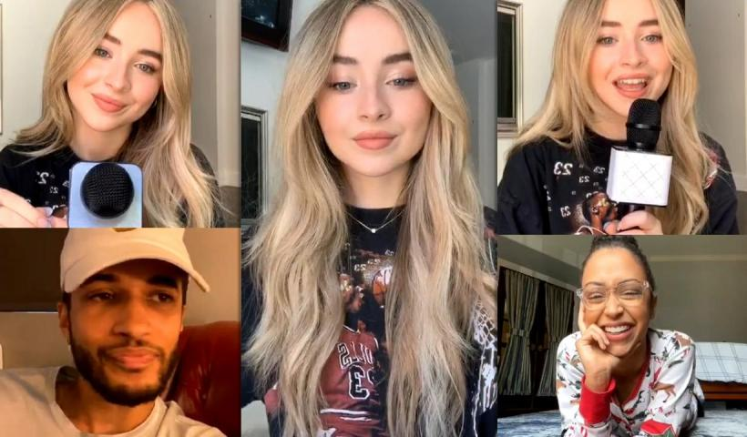 Sabrina Carpenter's Instagram Live Stream with Liza Koshy , Jordan Fisher and Drew Ray Tanner from August 9th 2020.